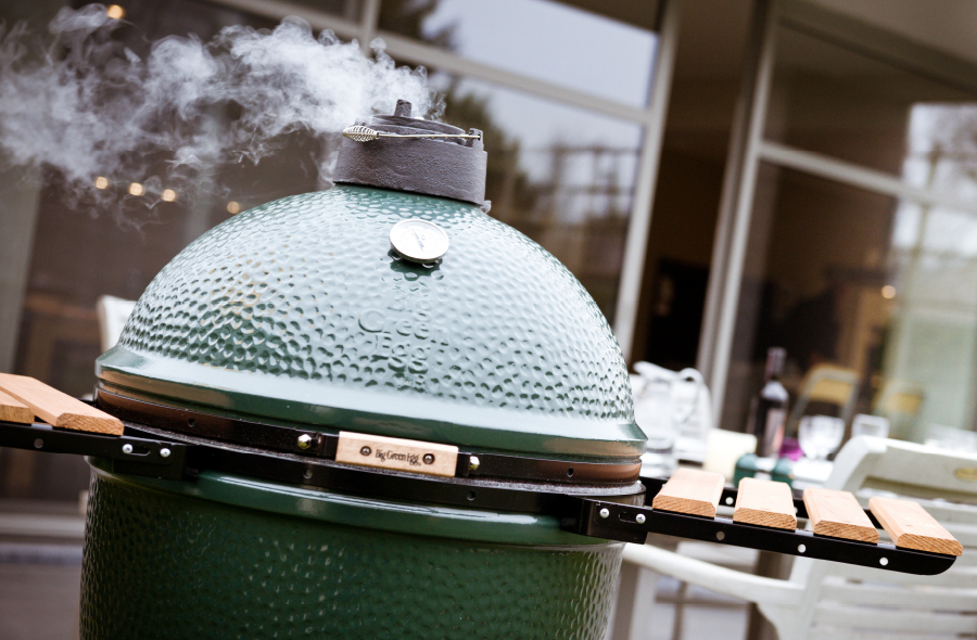 big green egg test big green egg medium bei lust auf. Black Bedroom Furniture Sets. Home Design Ideas